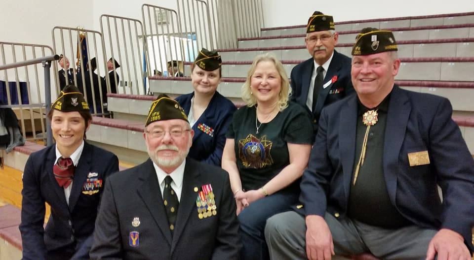 Members of VFW Post 1585 were guests of Whatcom Community College Women's Athletic Department on Veterans Day